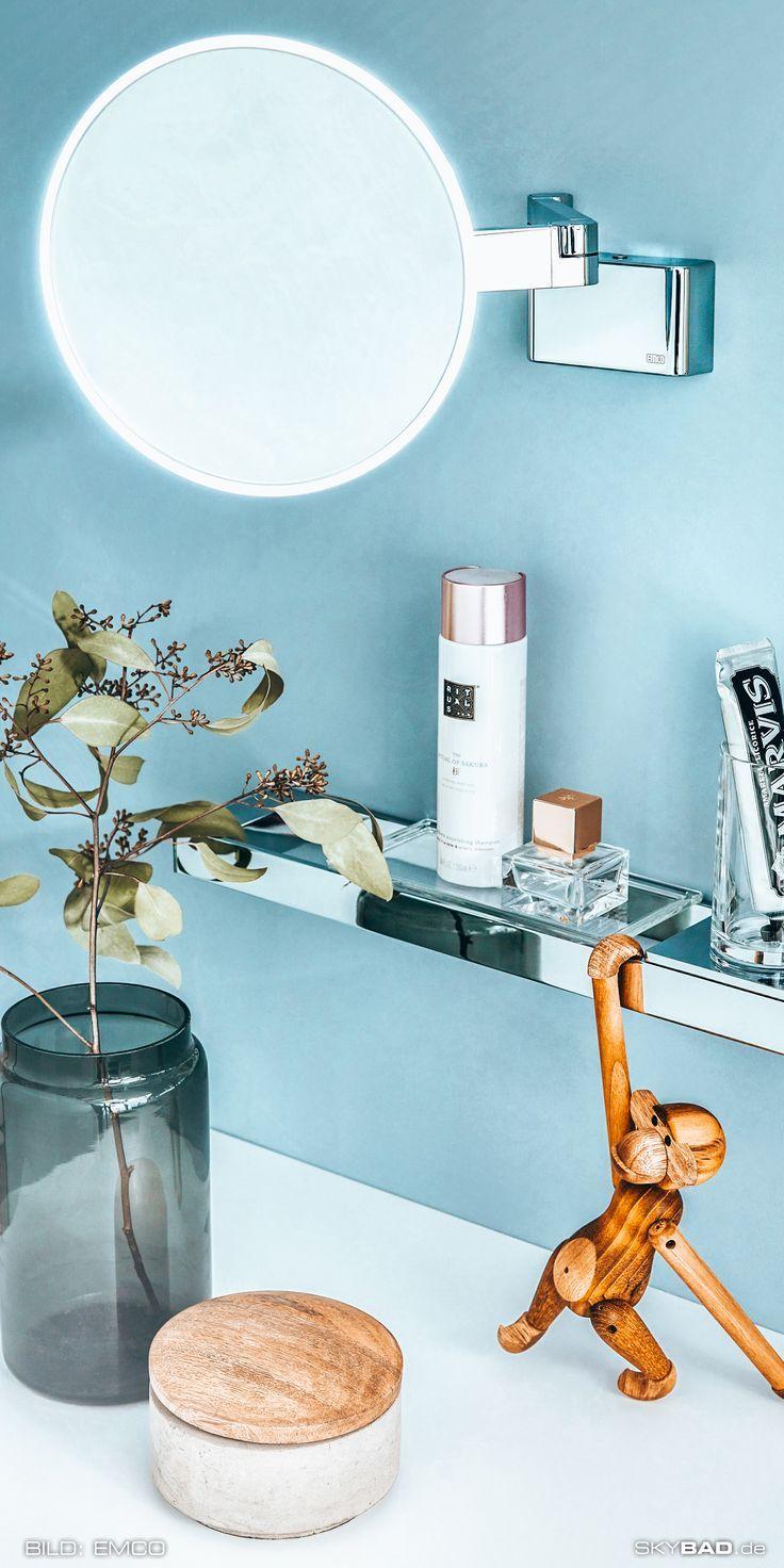 Emco Led Rasier Und Kosmetikspiegel 109508036 Chrom 3 Fach Vergrosserung 2 Armig Wandmodell In 2020 Dekor Haus Deko Kosmetikspiegel