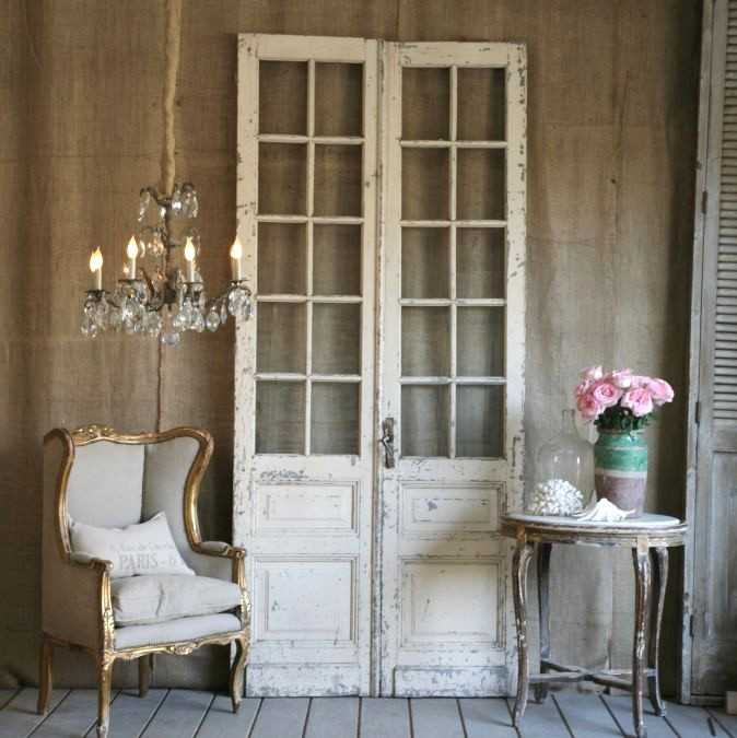 Door Set....if I can't live in Europe for real - Antique French Doors Interior Antique Furniture