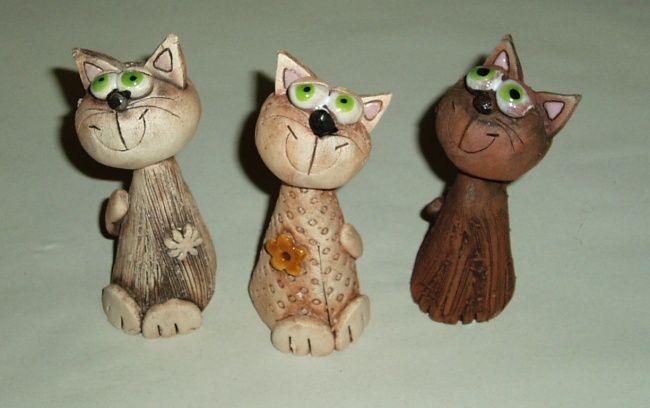Kočka - keramická figurka - Originální dárky pro muže a ženy k narozeninám