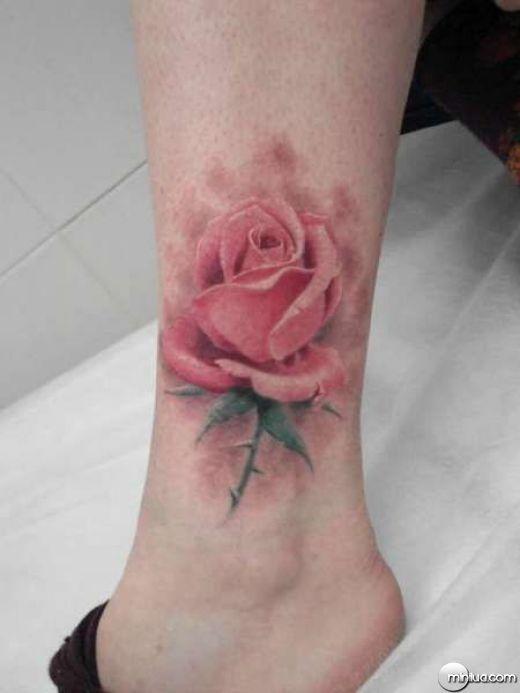 Watercolor Rose Tattoo Designs | As imagens a seguir mostram a arte feita com o novo modelo de tatuagem ...