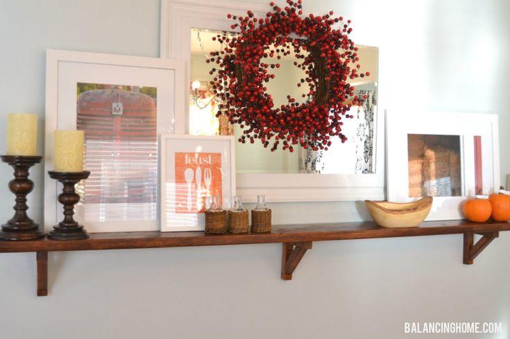 Thanksgiving Mantle decor - Balancing Home