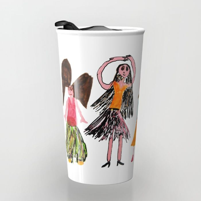 Buy Angel Dance Travel Mug by Azima. Worldwide shipping available at Society6.com/azima