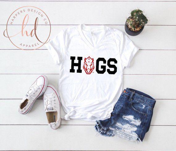 I Love Heart Hogs Ladies T-Shirt
