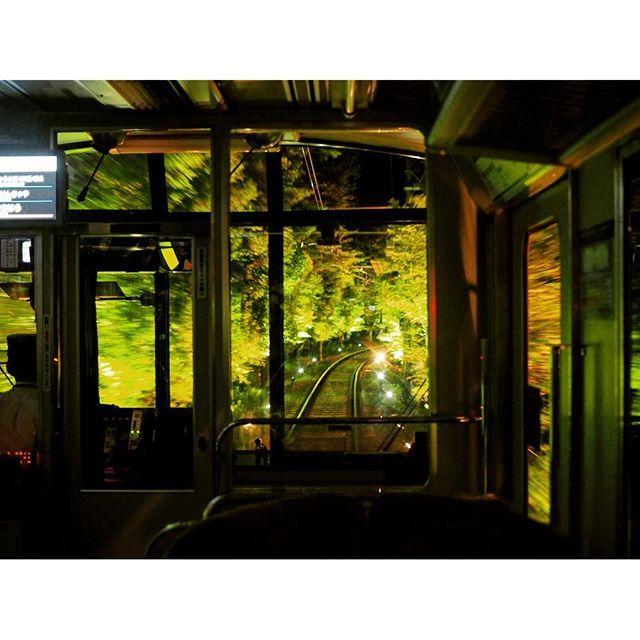 【nao5k7r】さんのInstagramをピンしています。 《. . 今年の夏、貴船神社行くときに乗った叡山電車の写真。 . 突如電気が消えて停電かと思ったら外の景色がライトアップされてて、それを味わうための粋な演出でした笑 紅葉の時期とか綺麗そう(^ω^) . 早く紅葉の時期にならないかな〜 . . #貴船神社 #叡山電車 #森林 #新緑 #ライトアップ #綺麗 #電車 #線路 #夜景 #京都 #貴船 #過去pic #kifuneshrine #eizanrailway #forest #beautiful #train #kyoto #kifune #japan_night_view #ig_nature》