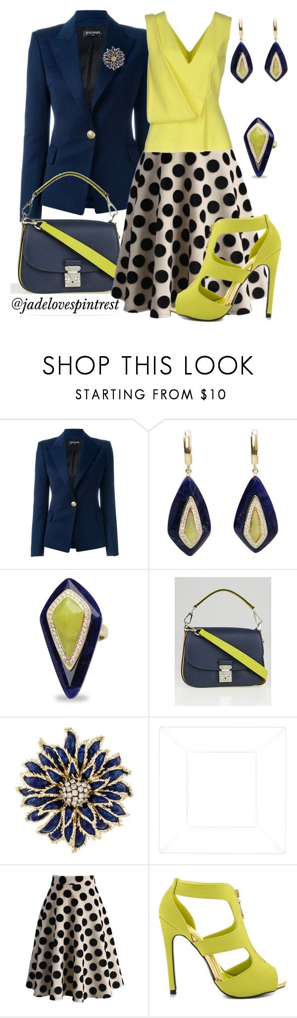 """""""Lime light"""" by jadelovespintrest ❤ liked on Polyvore featuring Balmain, Louis Vuitton, Tiffany & Co., Chicwish, Qupid and Christopher Kane"""