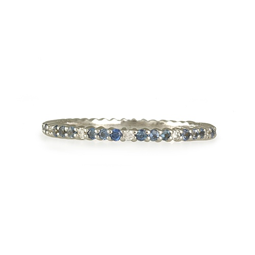 The Clay Pot :: Clay Pot Wedding :: Ring Type :: Diamond Bands :: JOLIE DESIGNS- Sapphire and Diamond Eternity Band