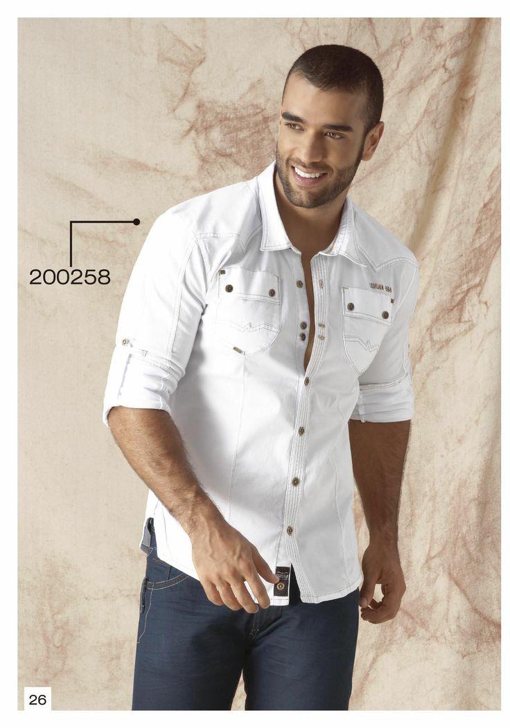 Camisa-manga-tres-cuarto-color-blanco