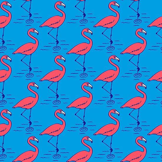 Retro flamingos by Dukepope / Bard Sandemose www.dukepope.com