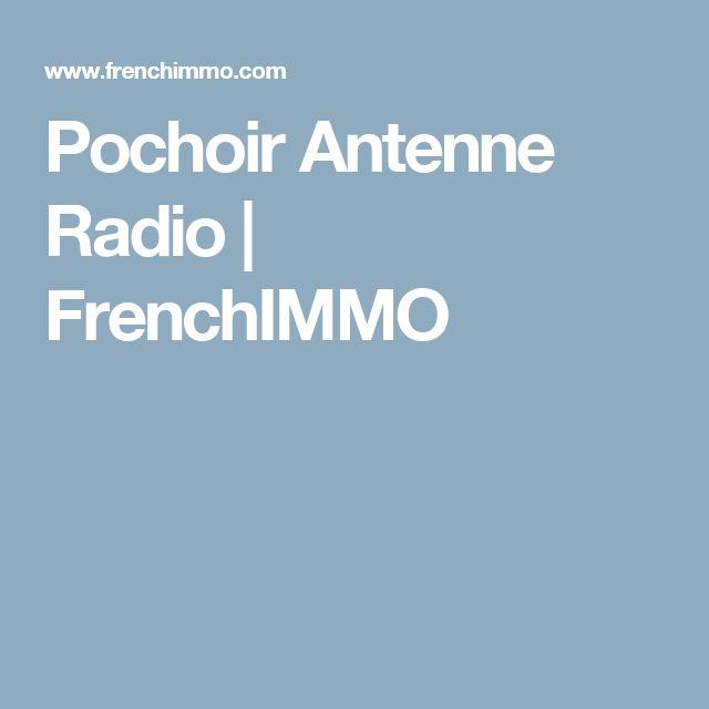 Pochoir Antenne Radio | FrenchIMMO