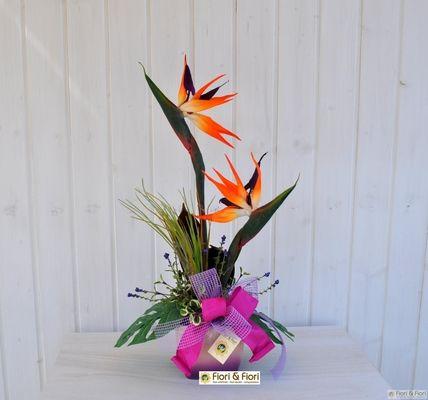 Composizione fiori artificiali Miami
