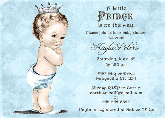 17 best images about prince invitations on pinterest elegant baby shower invitations