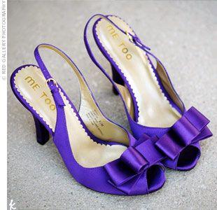 Prachtige paarse (trouw)schoenen