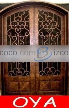 arched front doors with glass | ... arch top exterior entry double storm doors with blinds glass inside