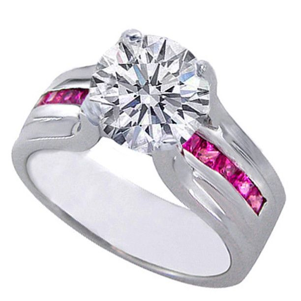 Superb Pink Camo Wedding Rings with Real Diamonds