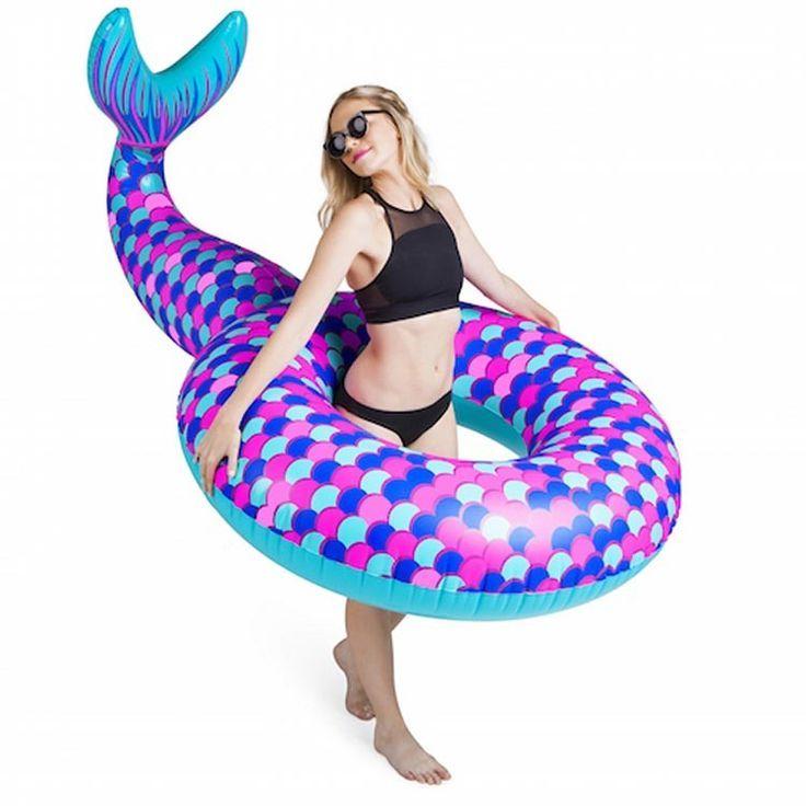 Giant Mermaid Tail Pool Float in Summer Fun