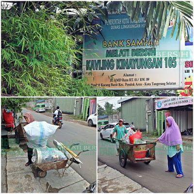 Bank Sampah Melati Bersih: Kegiatan Penimbangan Sampah di BSMB Kavling Kinayu...