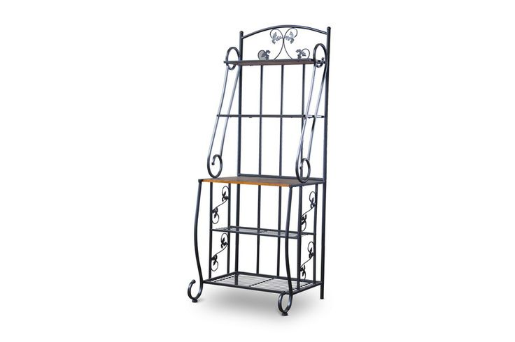 Pomona Wood and Metal Transitional Baker's Rack—High