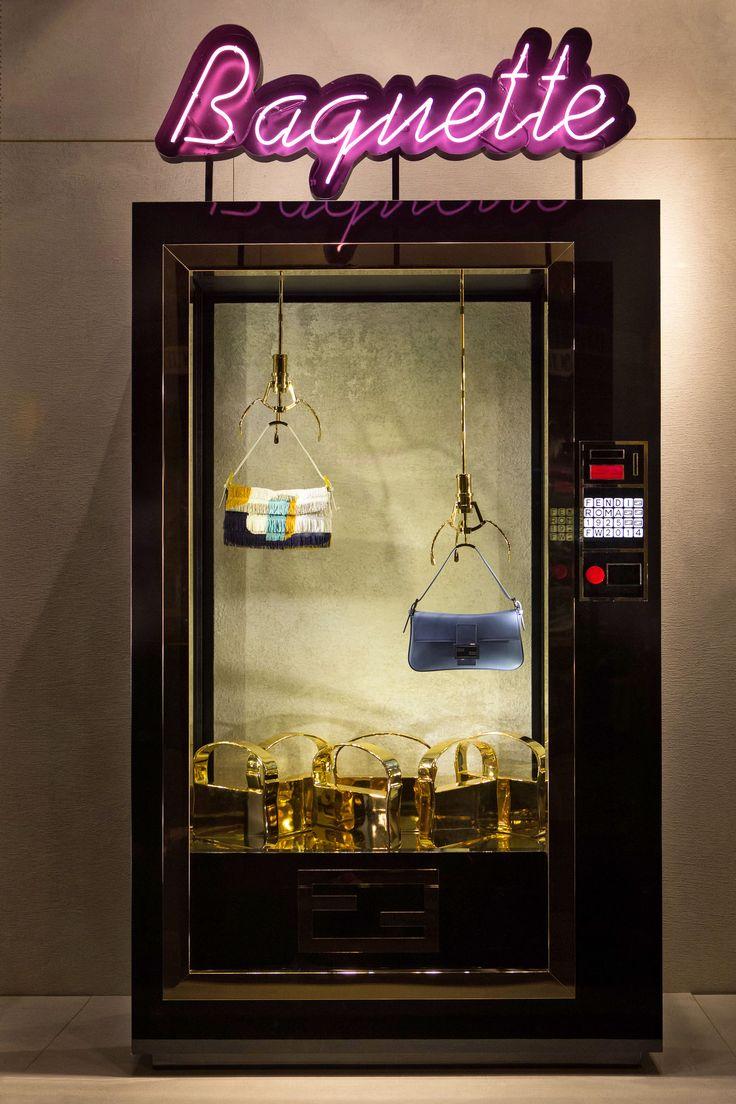 The new Fendi vending machine windows in Rome