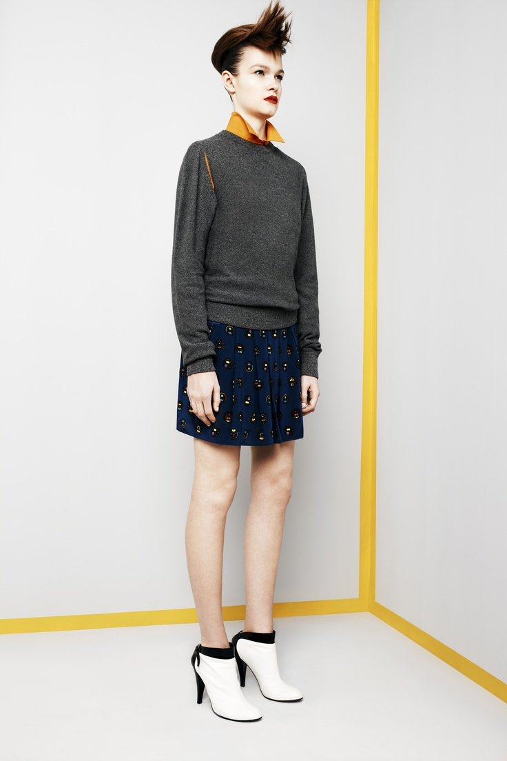 Look 4. Ignition Pullover, Collider Shirt & Autobahn Skirt.