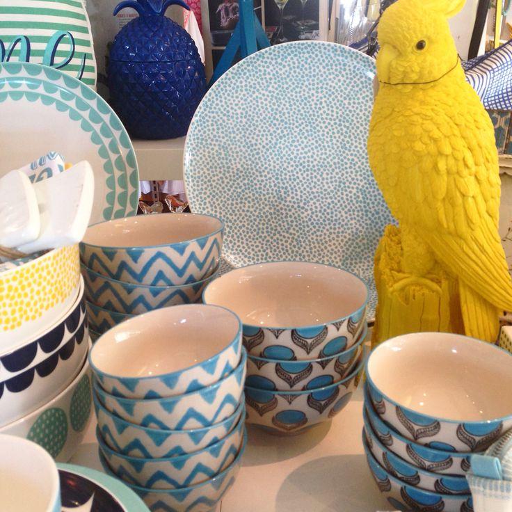 Parrots and Milk & Sugar bowls!