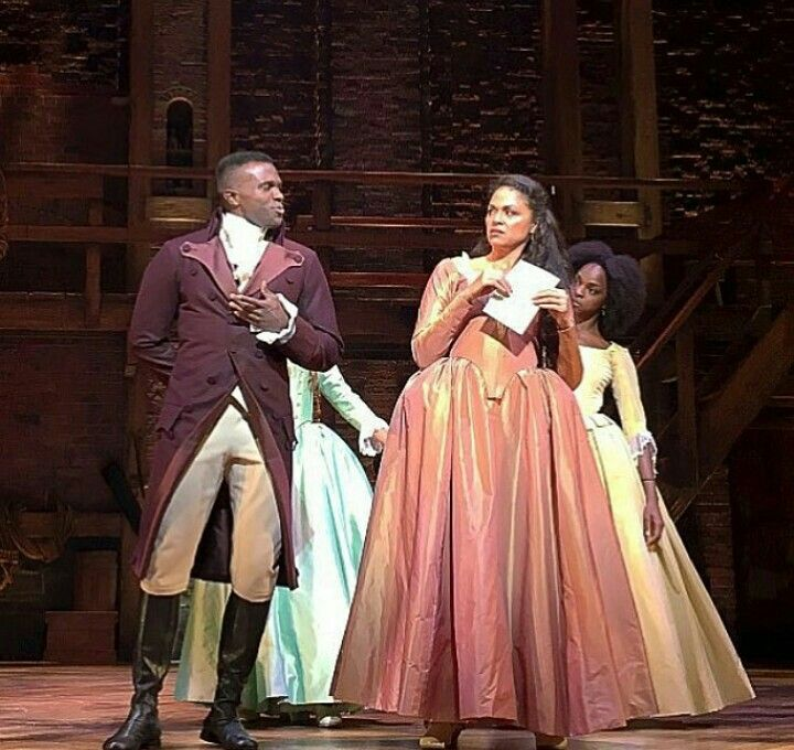 """""""Burr you disgust me..."""" Karen Olivo as Angelica in the Chicago production of Hamilton"""
