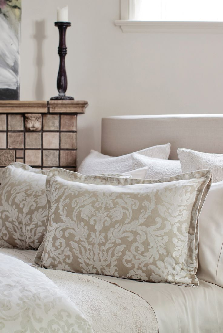 Fiordaliso Natural - St. Geneve Cristalli Collection Fall 2015 #matelasse #bed #bedroom #pattern #shams #duvet #bedding
