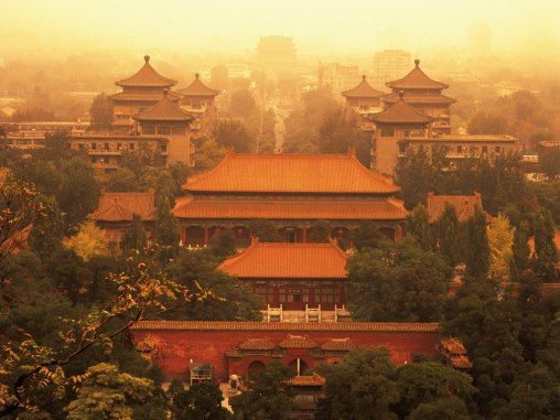 Palace Museum in The Forbidden City was the Chinese imperial palace from the Ming Dynasty to the end of the Qing Dynasty. It is located in the middle of Beijing, China. Built in 1406 to 1420, the complex consists of 980 buildings and covers 720,000 m2 (7,800,000 sq ft).