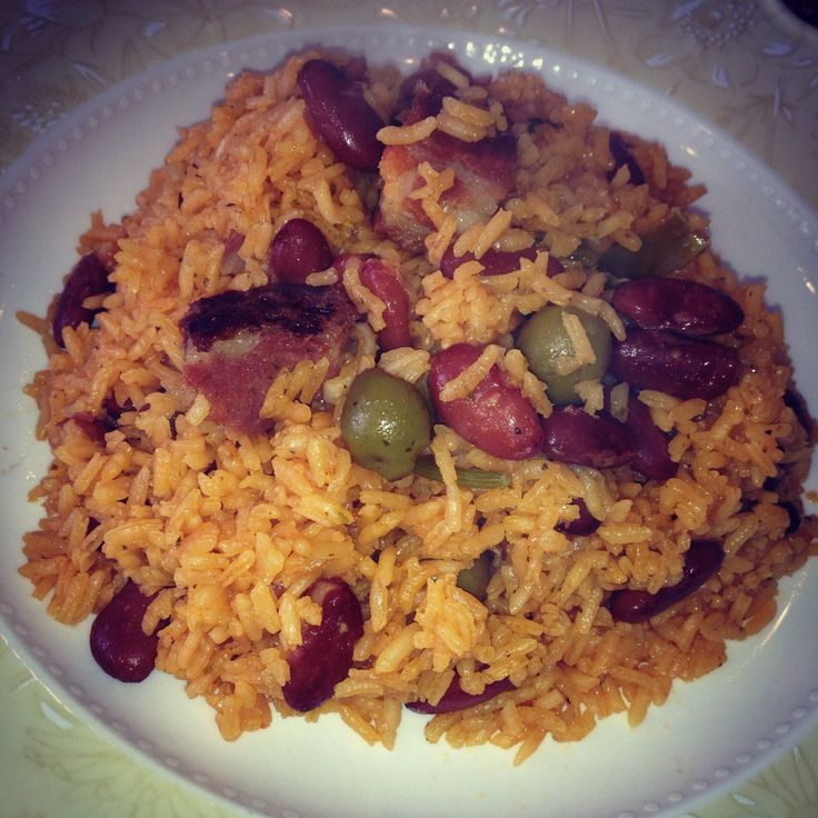hey guys and dolls so here is a video i made for my rice and beans mixed together. i added pork but you it is not a must. i just felt like adding some smoked ham for this video, i used long grain rice for this video but you can