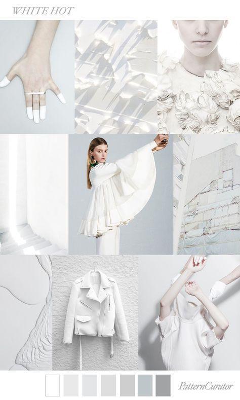 White Hot | PatternCurator | Style Color Palettes | Colour | Fashion Color Palet…