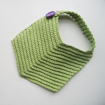 crochet baby bib by mettetation, via Flickr