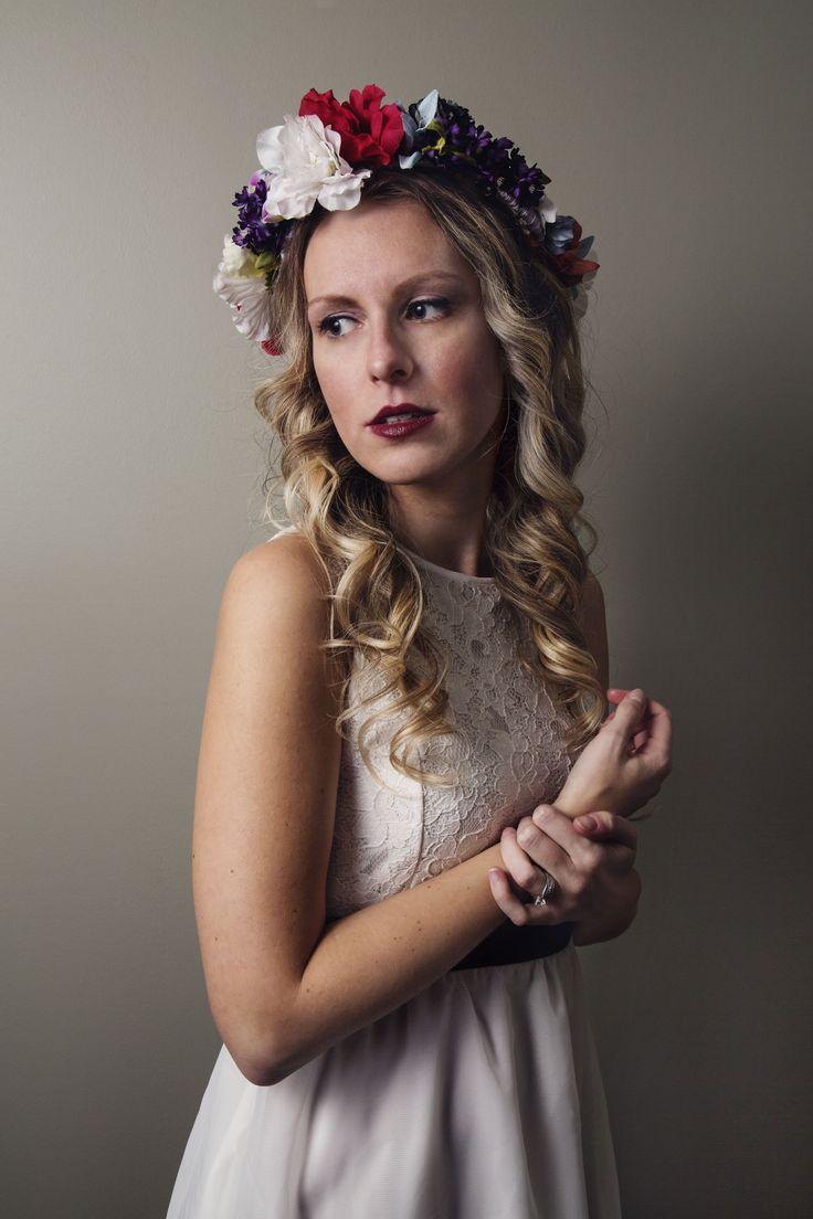 #model #photography #portrait #flowercrown