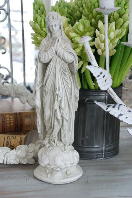 Eye Candy, Van, Ideas Para, Vintage Shabby Chic, Virgin Mary, Garden,  Style, Statues, Store