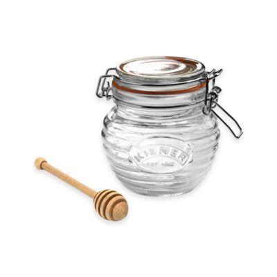 Kilner® Honey Pot with Wooden Dipper - BedBathandBeyond.com