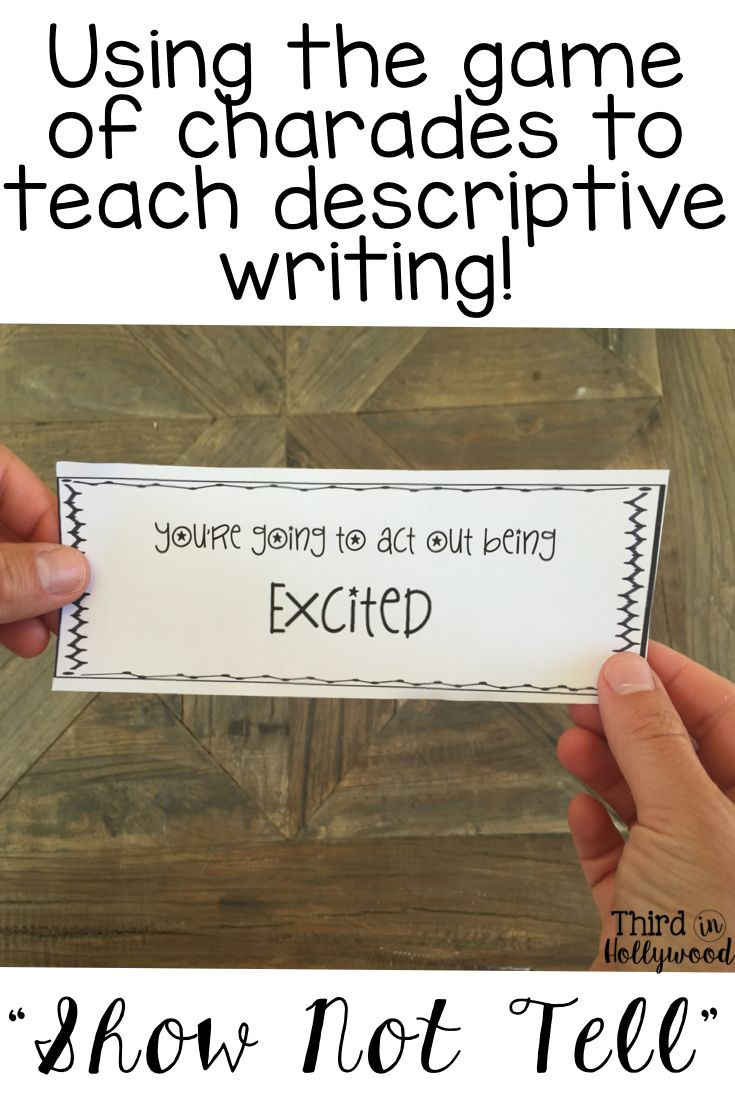 teaching descriptive writing Let's face it, kids don't want to learn by sitting in their seat and copying work down  they certainly don't learn much from worksheet after.