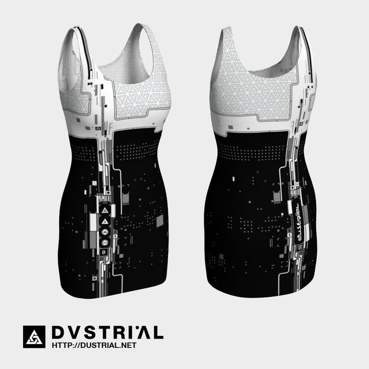 "dustrial-inc: "" Xerodustrial Mono Bodycon Dress Reptile Blvck Skater dress ://dustrial.net """