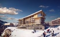 A view from the top - ski accommodation at Arc 2000 Ski Resort, France