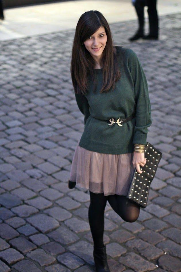 Le muse di Kika: Sonata al maglione verde [moda+fotografia]