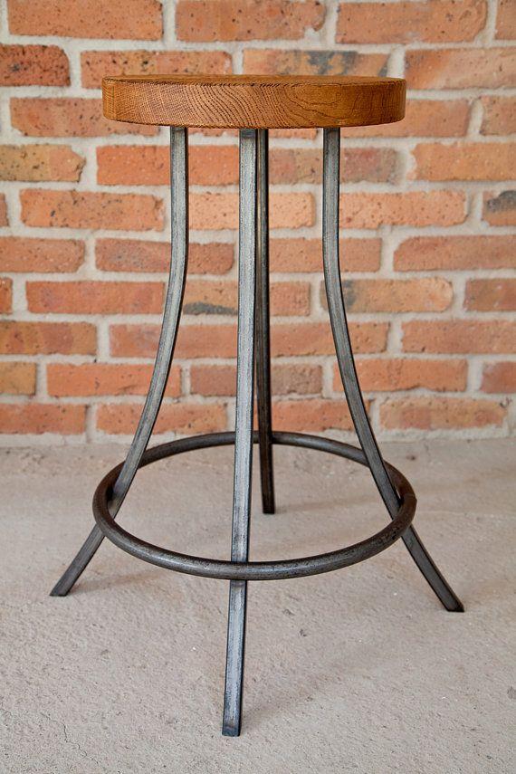 Vintage Industrial Lamp Table by KORNIK on Etsy