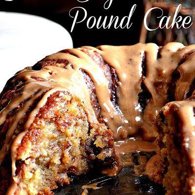 Brown Sugar Caramel Pound Cake @keyingredient #cake #caramel