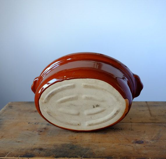 Vintage French Casserole in Terracotta by Metoox on Etsy