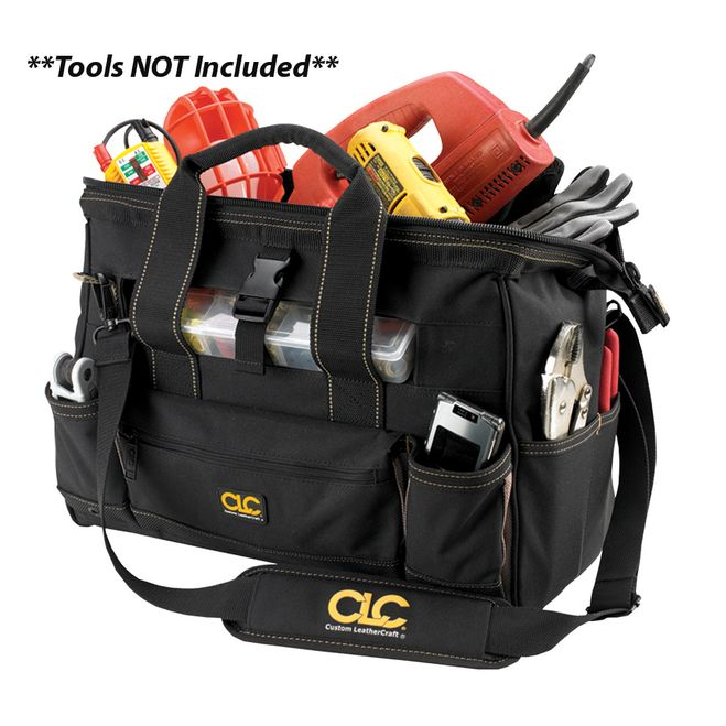 "CLC 1534 16"""" Tool Bag w/ Top-Side Plastic Parts Tray [1534]"