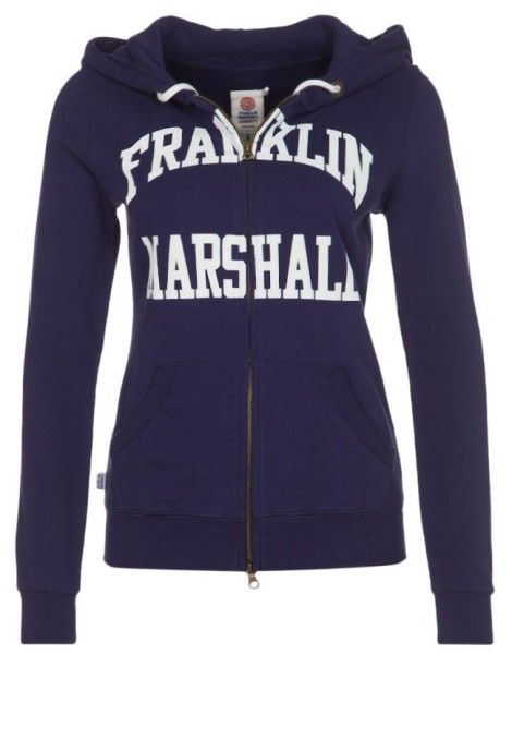 Franklin & Marshall Sweat zippé bleu