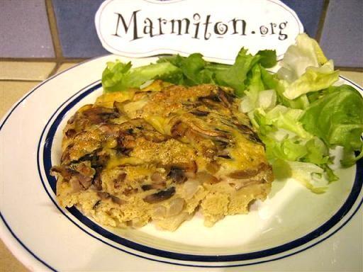Omelette aux asperges et au comté