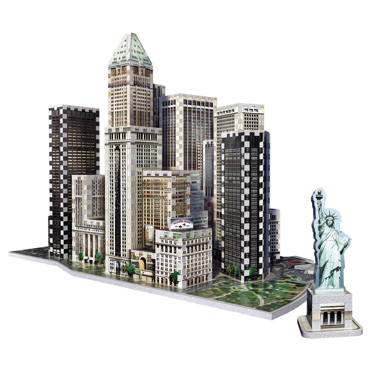 Wrebbit 3D - 2013 Financial District New York 3D Puzzle 925pc