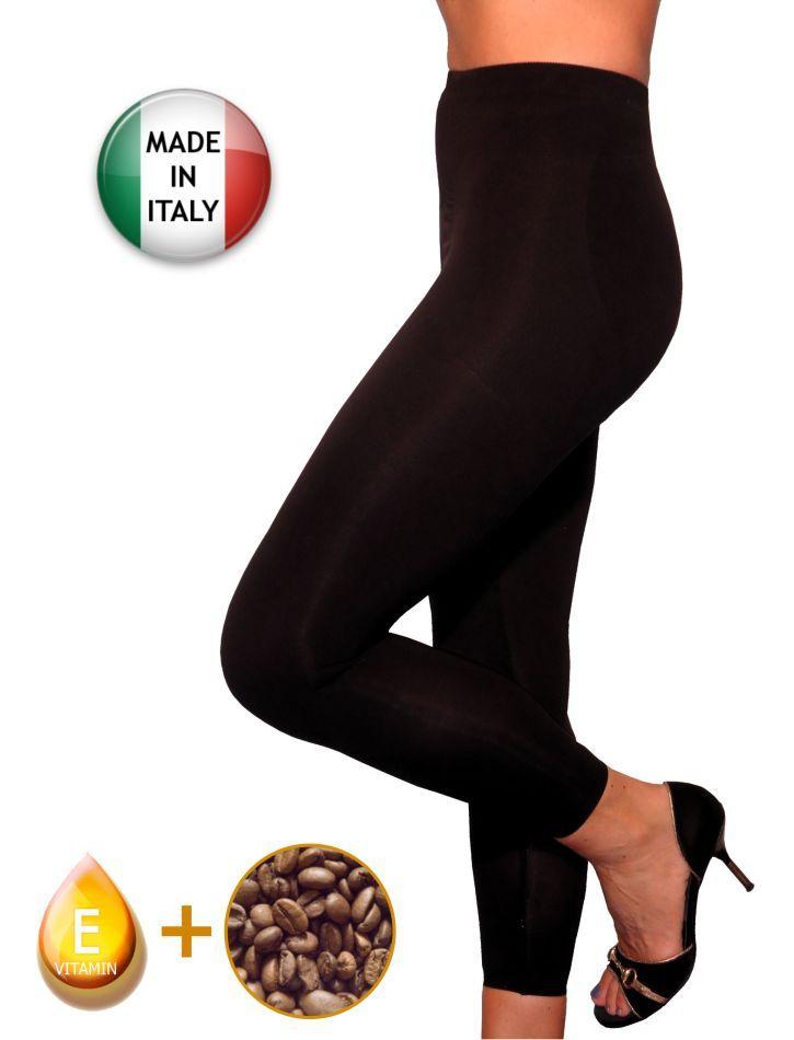 Elegante leggings anti cellulite con push-up, riducente con caffeina + vitamina E
