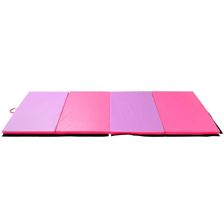 soozier x x pu leather gymnastics tumbling martial arts folding mat pink purple deal