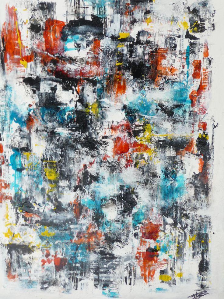 Peinture art abstrait technique acrylique vitrail glyc ro artworks pinterest art - Peinture glycero ou acrylique ...