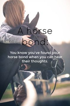 A horse bond #cowgirl #quotes #cowgirlquotes http://www.islandcowgirl.com/