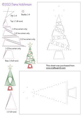 2 more Christmas Trees on Craftsuprint designed by Diana Hutchinson - Another two stitch or prick patterns of Christmas trees. - Now available for download!