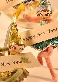New Years / Vintage elf girls with Made In Japan tags